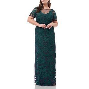 JS Collections Illustion Soutache Evening Dress